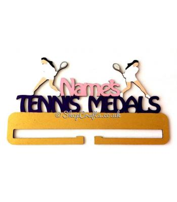 Personalised Large Tennis Medals Holder