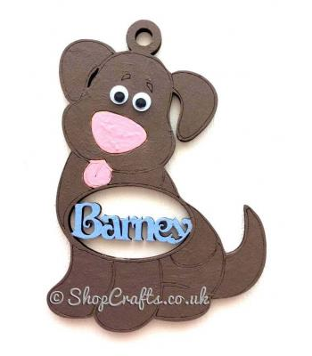 Personalised Name Dog Shape Pet Tree Bauble