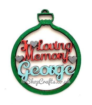 Personalised 'In loving Memory' Christmas Tree Bauble