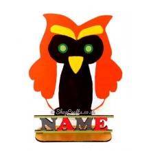 Childrens Personalised Owl Shape on a Stand with Name