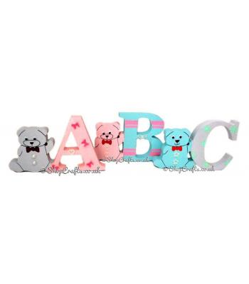 Freestanding 18mm thick  Teddy Themed Letters