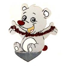 'I love you this much' Cute etched teddy bear on a Stand
