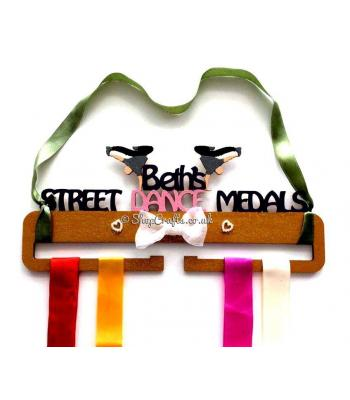 Personalised Street Dance Medal Holder