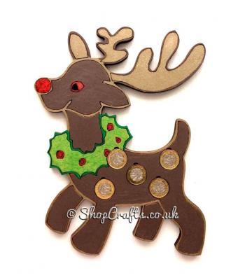 Christmas Rudolph Reindeer £1 Coin Holder