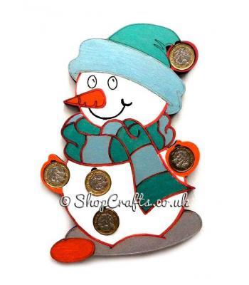 Christmas Snowman £1 Coin Holder