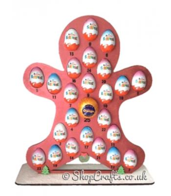 6mm Reusable Gingerbread Advent for Kinder Eggs & Chocolate Orange- more designs available