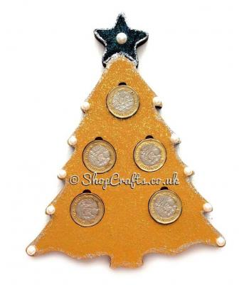 Christmas Tree £1 Coin Holder