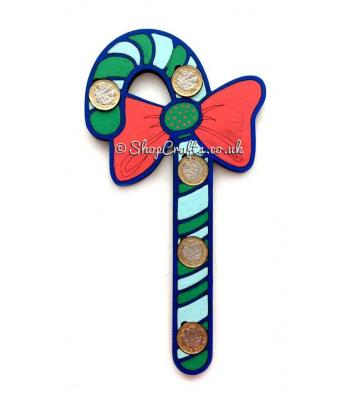 Christmas Candy Cane £1 Coin Holder