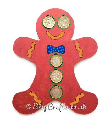 Christmas Gingerbread £1 coin holder
