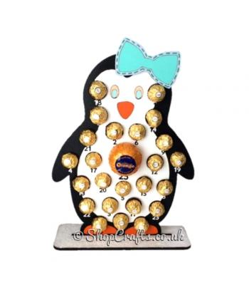 6mm Reusable Girl Penguin Chocolate Orange and Ferrero Rocher Advent  Calender