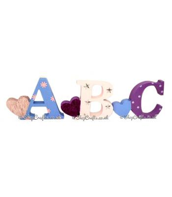 Freestanding 18mm thick Heart Themed Letters