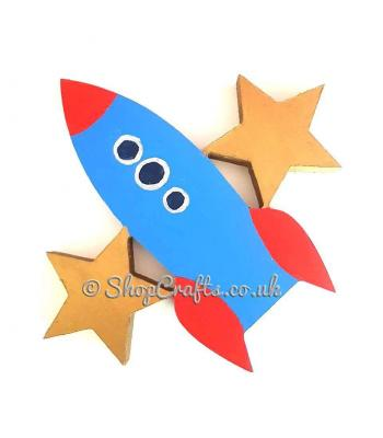Freestanding 18mm thick Rocketship Shape