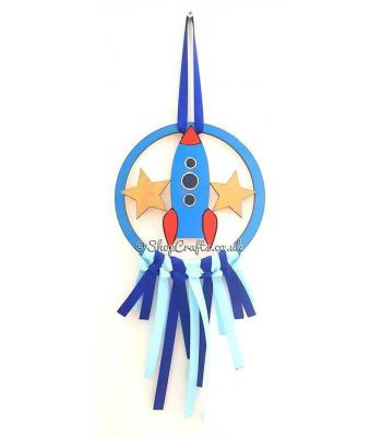 Mini Rocketship Dream Catcher