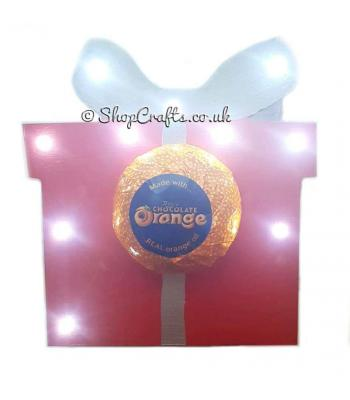 Freestanding 18mm thick Light Up Present Chocolate Orange Holder (Including Confection)