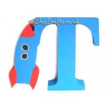 Freestanding 18mm thick Rocketship Letter
