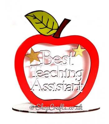 Best Nursery Teacher / Head Teacher / Classroom Assistant / Teaching Assistant Apple on stand