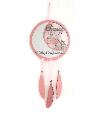 Dream Big Dream Catcher with feathers
