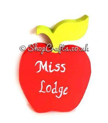 Freestanding 18mm thick Personalised Apple