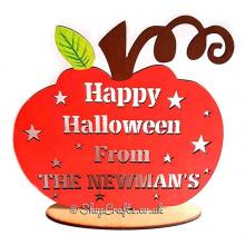 Happy Halloween From The...Surname Personalised Plaque On Stand
