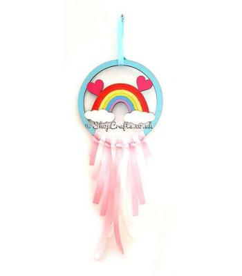 Mini Rainbow Dream Catcher