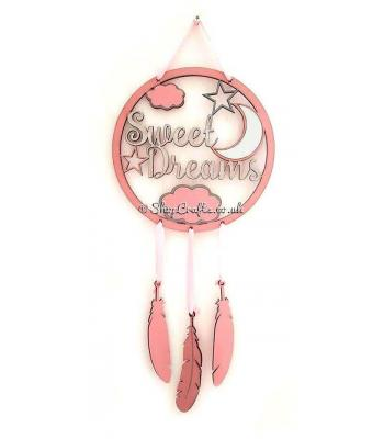 Sweet Dreams Moon & Star Themed Dream Catcher