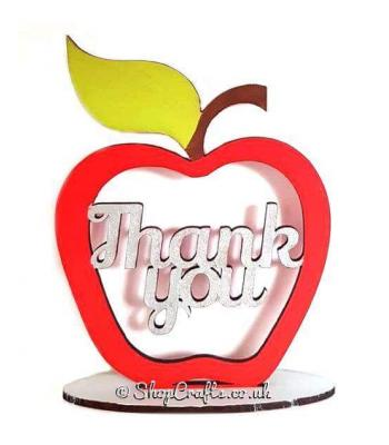 Thank You Apple On Stand Teacher Gift